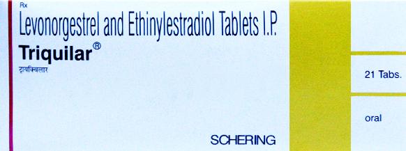 Triquilar (Schering) 21 pills pack in 1 box