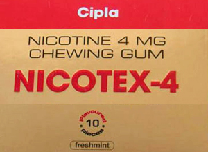 Nicotex 4 mg 30 Gums