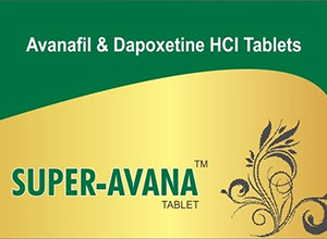 Avana Super (Avanafil/Dapoxetine) (Sunrise Remedies) 4 tabs/pack 100/60 mg