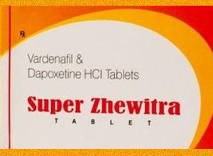 Super Zhewitra 20mg 60mg 4 pills in 1 box