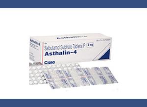 Asthalin (Cipla) 4 mg 30 pills in 1 sheet