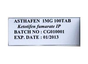 ASTHAFEN-1mg-100Tab