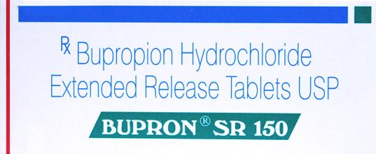 Bupron SR 100 Tab in 1 box (Sun Pharma) 150 mg