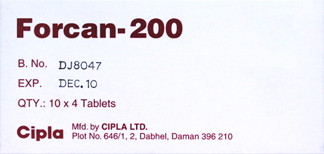 FORCAN 200MG 40 Tab